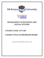 UCU_005_Introduction To Entrepreneurship