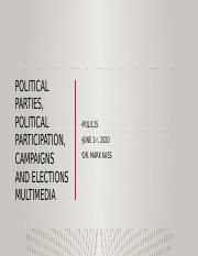 Political Parties, Political Participation, Campaigns and.pptx