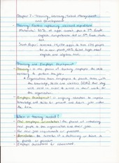 BUS ADM 362 Intro to HR Chapter 7 Lecture Notes on Training, Learning and Talent Management