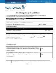 BSBMKG408-Unit Competency Record Sheet.doc