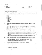 Extra Credit Worksheet with Key