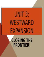 Westward Expansion revised 2.0 2015.ppt
