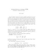 lanchesters equations lecture notes