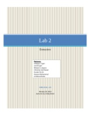 Lab 2 Extraction