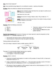 03 HW - Heat and Specific Heat Capacity