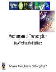SCIE1106 Lec 9 Transcription 1 2014