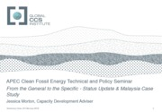 APEC Clean Fossil Energy Case Study Malaysia