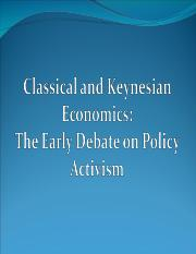 Lecture - 12 - Classical and Keynesian - The Great Depression.ppt