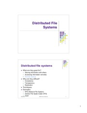 Lecture 10 - Distributed File Systems