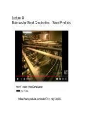 231-08 Materials for Construction - Wood Products