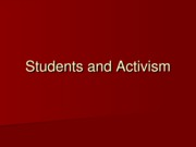 Lecture 22 - Students and Activism