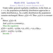 Lecture 12 on Probability and Statistics