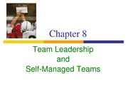 _Team Leadership and Self-Managed Teams