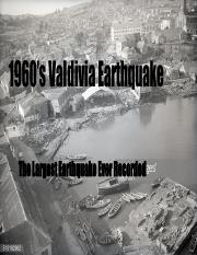 1960 Valdivia earthquake-The Most Powerful Earthquake