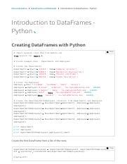 Introduction to DataFrames pdf - Documentation DataFrames