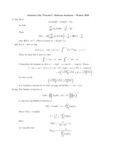 STATS 252 Winter 2006 Practice Midterm 1 Solutions