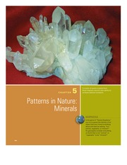 Chapter 5 - Paterns in Nature Minerals
