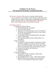 imc plan sample