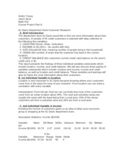 math 533 part c aj davis department Math 533 project b math 533 course project: aj davis department stores project part b: hypothesis testing and confidence intervals summary report in order to calculate the.