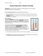 Earth Science Online Lab 6 Relative Humidity.pdf
