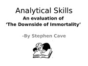 Evaluation of 'The Downside of Immortality'1