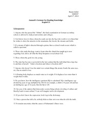 Jannach's German for Reading Knowledge: Kapitel 21 Solutions