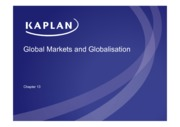 Global Markets and Globalisation