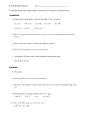 Printables Periodic Trends Worksheet periodic trends worksheet key name k 6 4 pages 1