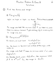 Exam 2 Practice Problems--Solutions--part 1