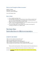 Principles of Microeconomics_2014 Notes