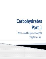 Carbohydrates-Part1