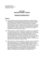 ECO 209Y Fall 2013 Problem Set 13 Solutions
