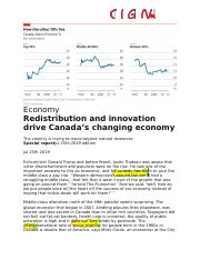 Redistribution and innovation drive Canada's changing economy.docx