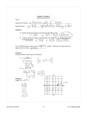 Square root functions notes
