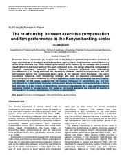 the__relationship_between_executive_compensation_and__firm_performance_in_the_kenyan_banking_sector.