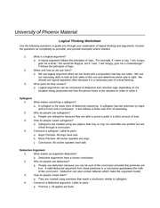 Worksheet Syllogism Worksheet syllogism 1 what makes something a is phil 251