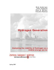 Hydrogen Generation-Abstract