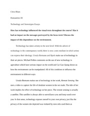 Technology and Sterotypes Essay