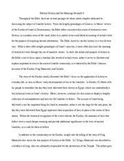 Intro to Bib Lit- Essay 3 history of bible