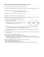 Final Exam Review Problems Part 1