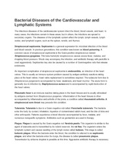 Bacterial Diseases of the Cardiovascular and Lymphatic Systems