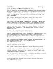 ENG 205 Nature poetry syllabus Spring 2015 1130 am revised and updated
