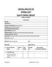 QUALITY CONTROL INTERNAL AUDIT CHECKLIST.docx