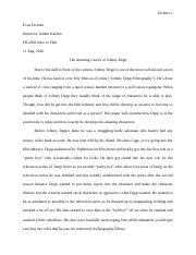 Johnny Depp Research Paper
