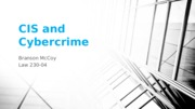 CIS and Cybercrime