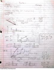 Vectors and Planar Motion Notes