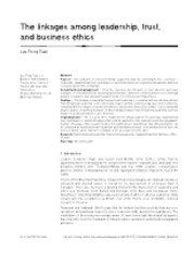 The linkages among leadership, trust, and business ethics