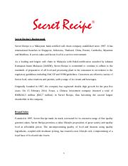 Secret Recipe flyers report.docx