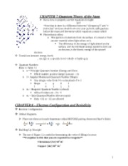 Chemistry Exam 2 Study Guide
