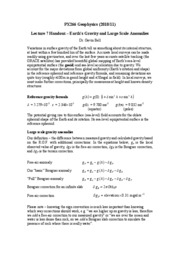 Geophysics, Lecture Notes- Physics - Prof Gavin Bell 9